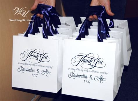 black wedding gift bags 30 wedding welcome bags with navy blue satin ribbon names