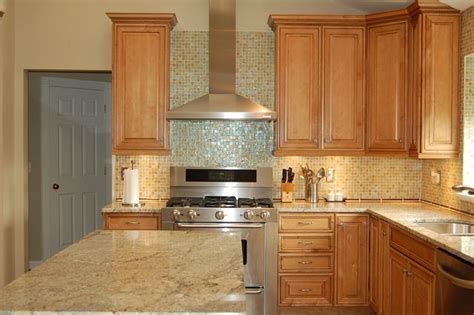 maple kitchen ideas maple cabinets with light granite countertops kitchen