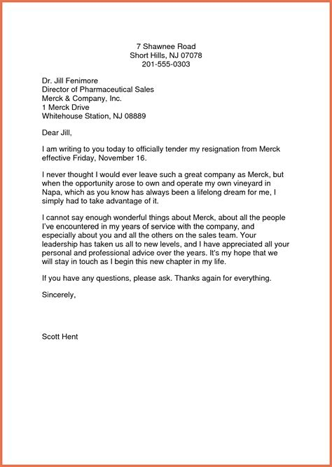 Templates For Writing Resignation Letters Sle Resignation Letter Template Bio Exle