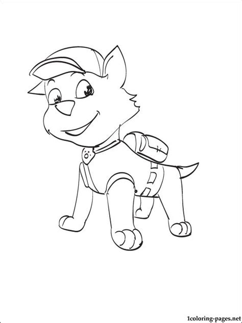 coloring pages paw patrol rocky rocky paw patrol coloring page coloring pages