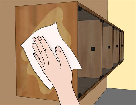 Cleaning Wood Kitchen Cabinets by 3 Ways To Clean Wood Kitchen Cabinets Wikihow