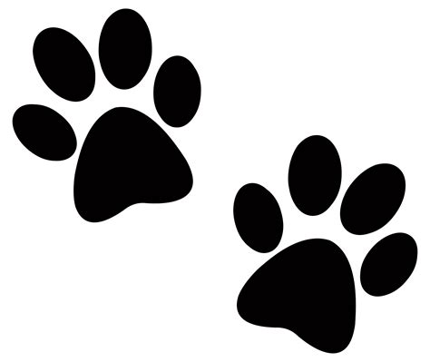 puppy prints paw print images clipart best