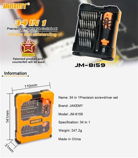 Jakemy 34 In 1 Obeng Set Jm 8159 jakemy jm 8159 34in1 screwdriver set