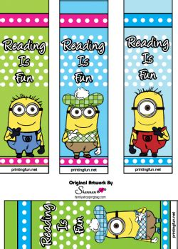 free printable november bookmarks minions bookmarks free printables miniature