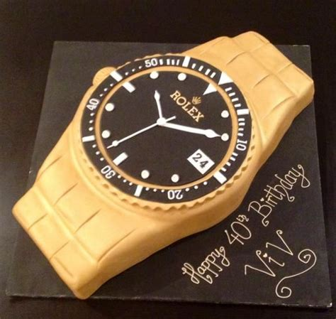 clock rolex themes rolex watch cake baking cakes goodies pinterest