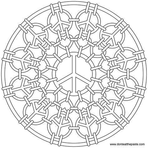 Peace Mandala Coloring Pages don t eat the paste peace mail mandala to color