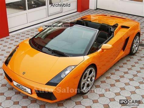 Lamborghini Gallardo Cabrio 2007 Lamborghini Gallardo Spyder Car Photo And Specs
