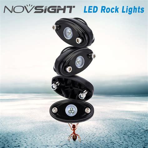 rgb rock lights app novsight 4pods rgb white led rock lights car chassis ls