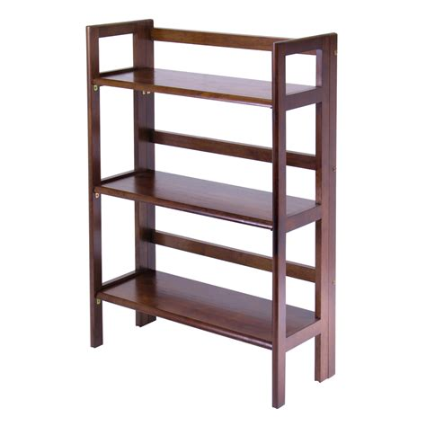 Stackable Shelf by Winsome Wood 3 Tier Folding Stackable Shelf Wide