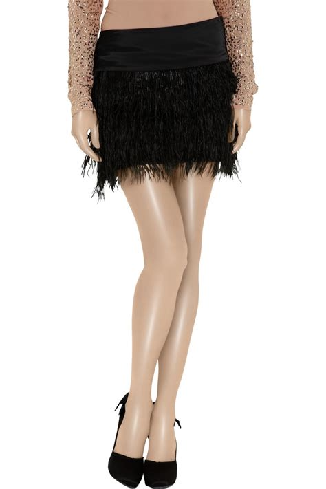 Feather Jumpsuit Da alexandrie ostrich feather trimmed mini skirt by by malene birger skirts ostrich