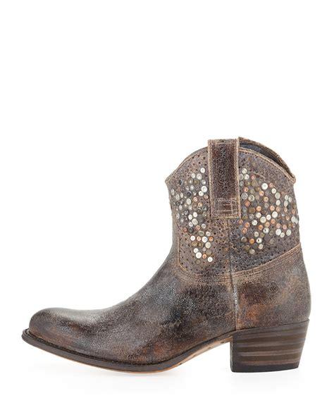 frye studded boots frye deborah studded boot in gray lyst