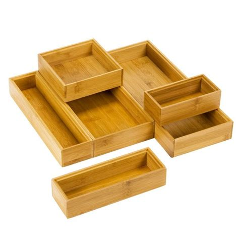 stacking drawer organizers stackable bamboo drawer organizers