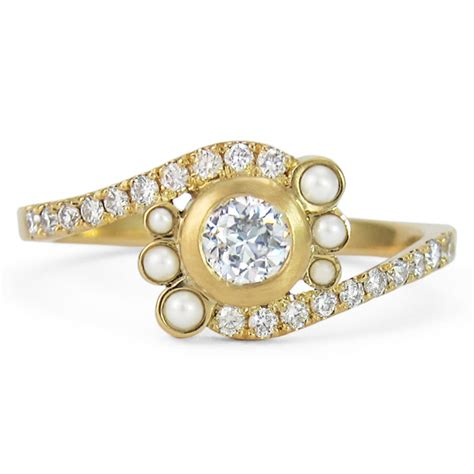 ultimate and pearl engagement rings f l