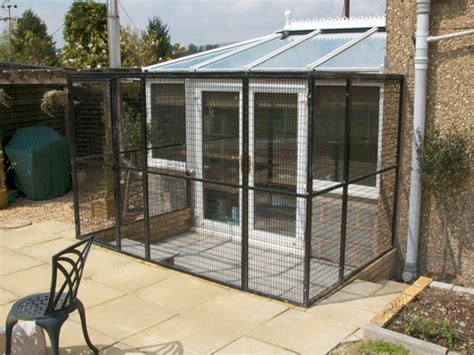 Awning Manufacturers Uk The Mathews Aviary Extending From Their Conservatory