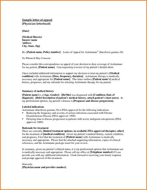 Medicare Appeal Letter Exles 7 Appeal Letter Format Registration Statement 2017