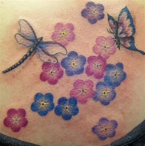 dragonfly and flower tattoo designs cool and beautiful 3d dragonfly designs