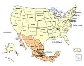 usa and mexico powerpoint map editable states maps for