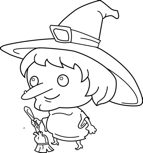 free coloring pages of witches hat