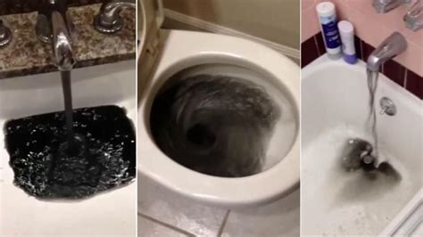water coming out of bathtub faucet and shower head black sludge like stuff coming out of tub shower faucet and bath sink faucets and