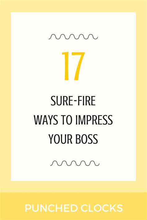 7 Ways To Impress Your In by Impress Your With These 17 Tips Punched Clocks