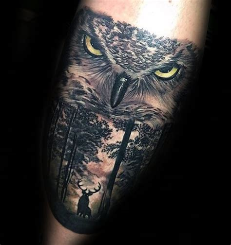 owl tattoos for men 10 best images on forest tattoos