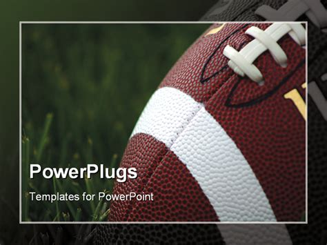 free football powerpoint templates american football on grass powerpoint template background