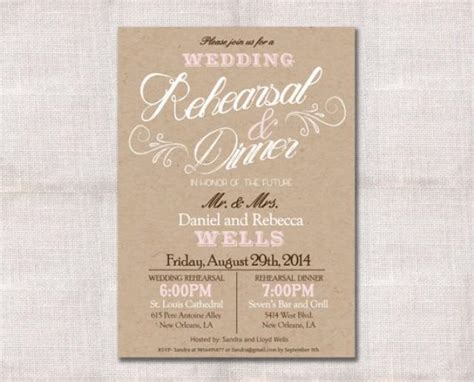 wedding rehearsal dinner invitations wedding rehearsal dinner invitation custom printable 5x7