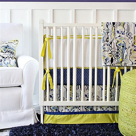 caden lane crib bedding caden lane 174 ikat citrus crib bedding bedbathandbeyond com