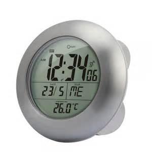 horloge de salle de bain sans fil digitale 233 tanche et