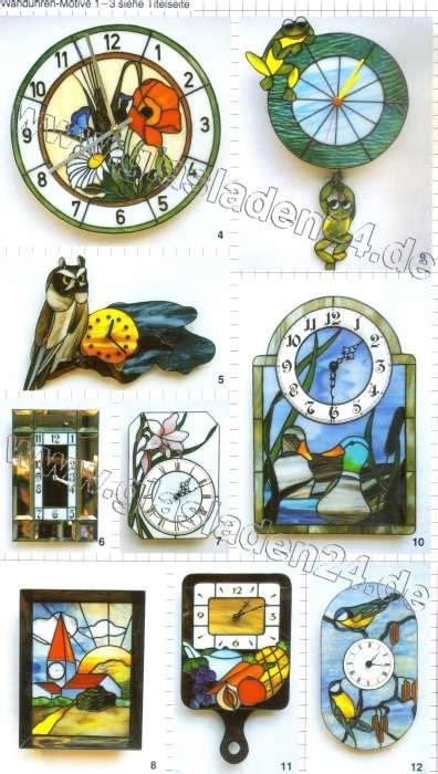 Glas Design Vorlagen glas design uhrenvorlagen f 252 r die glaskunst