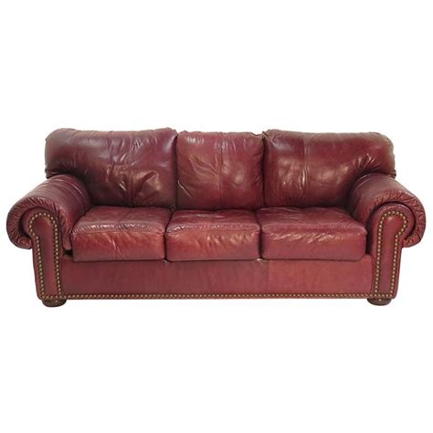 1980s couch 1980s leather sleeper sofa for sale at 1stdibs
