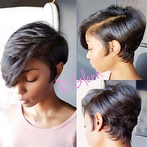 Compact black women hairstyles 29  long pixie   Hair Styles