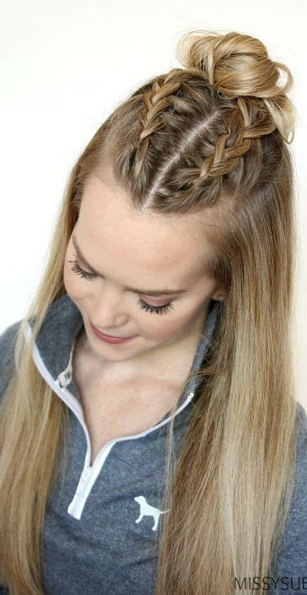classy and simple hairstyle ideas for thick hair braided