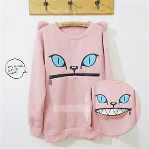 kawaii clothing sudadera boca gato cat mouth