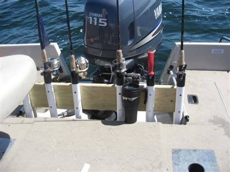pontoon boat rod storage ideas homemade rod storage holders for boat open water