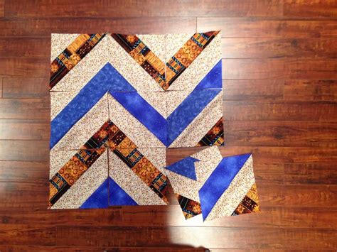 Chevron Quilt Block Pattern by Chevron Block Favequilts