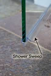 shower glass door sweep when to use a shower sweep
