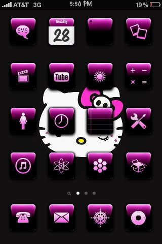 theme hello kitty pink preview pink black theme with hello kitty background