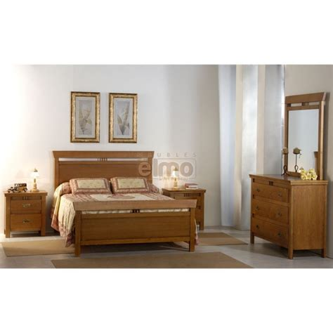 chambres adultes completes chambre adulte compl 232 te ch 234 ne massif lit 140x190 cm