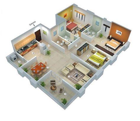 desain kamar 3 x 4 house design denah rumah minimalis 1 lantai 3 kamar tidur