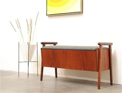 mid century modern storage bench 1200 sold 1960s danish modern teak entry storage bench