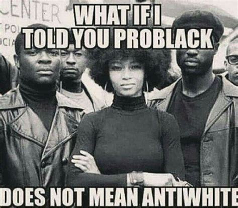 what does it mean when someone is sectioned pro black does not mean anti white or does it angry