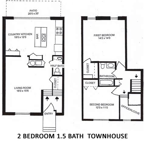 2 bedroom 2 bath townhouse columns of castleton located on the northeast side of