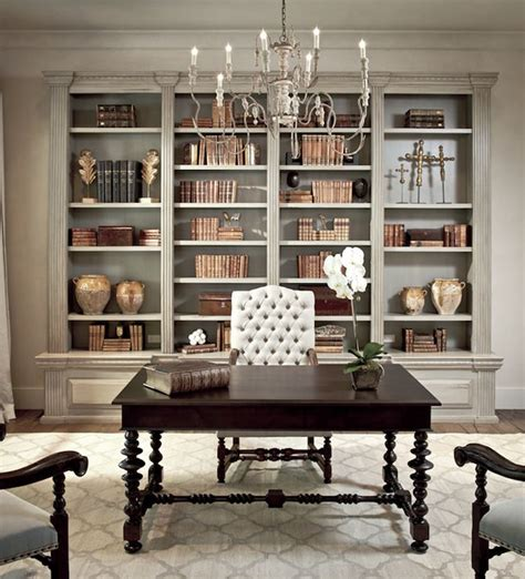 chic home office desk dens libraries offices sherwin williams ermine chic