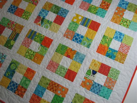 Scrappy Patchwork Quilts - baby quilt scrappy patchwork quilt quilted throw