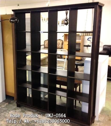 Lemari Rak Kayu jual murah lemari rak buku kayu jati minimalis warna bagus harga terjangkau call 6285233065000