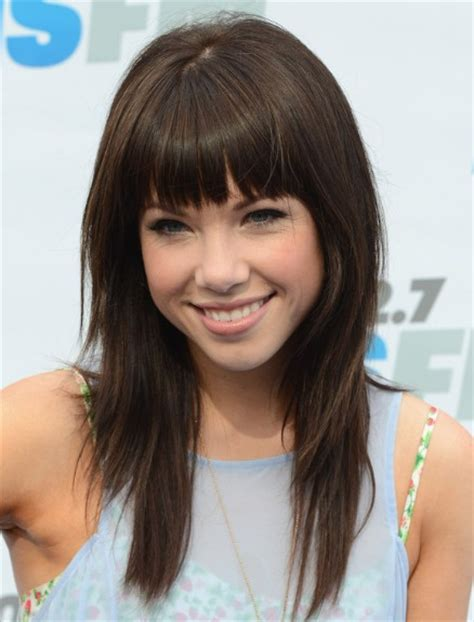 types of bangs for hair cut straight bangs with hair layers for curly and wavy