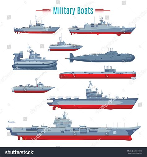 type of boat or ship military boats collection different types naval stock