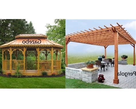 gazebo vs pergola pergola gazebo ideas