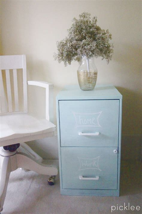 painting a file cabinet with chalk paint chalk painted filing cabinet picklee